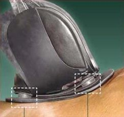 ReactorPanel Saddles' flexible panels and shock-absorbing discs follow the changing contours of the back in motion
