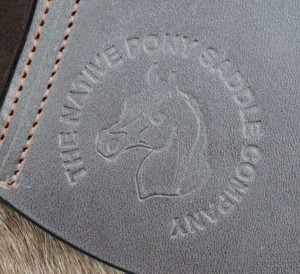 All genuine Native pony saddles will be stamped with our logo on the flap