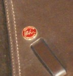 Signature Badge  on a genuine Mathew Lawrence Showing Saddle