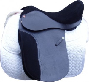 Lucinda McAlpine Dressage Saddle With Dressage Square attached