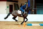 Rhoda McVey,Fizz & a saddle for BHS Trec