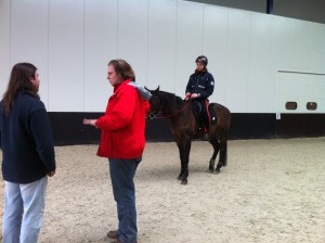 Susanne Penn Tries her Saddle at the Saddle Fitting Area at Country Mill