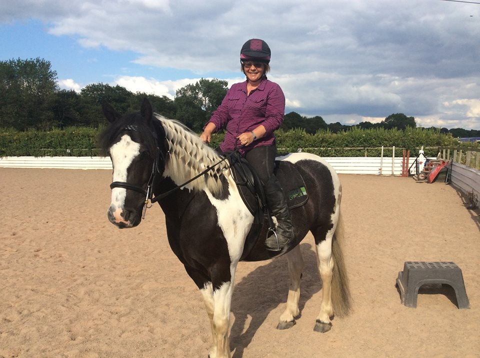 Terri, Ollie and a saddle for a growing young horse