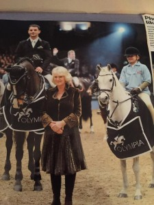 Phoebe after winning  The Pony Club Mini Major Relay, at The London International Horse Show at Olympia, London, 16 December 2010
