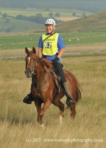 Kate and Dory  riding the Cumbria Challenge in 2013. with kind permission of  West End Photography.
